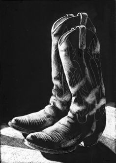 END OF THE DAY scratchboard art, painting by artist Barbara Fox Absolutely love this! Black Paper Drawing, Black And White Drawing, Scratchboard Art, Watercolor Fox, Scratch Art, Artist Gallery, Western Art, Pictures To Paint, Art Sketchbook