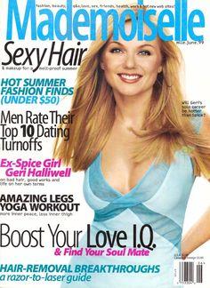 June 1999 cover with Geri Halliwell Vintage Magazines, Vintage Ads, Mademoiselle Magazine, Natasha Lyonne, Geri Halliwell, Glamour Magazine, Sexy Makeup, Vogue, Nice Legs