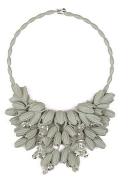 Ek Thongprasert Silicone Flower Large Necklace Lunar Rock/White/Silver at Parlour X