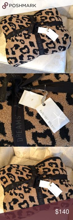 BAREFOOT dreams in the wild throw blanket 😊 New, never used. Barefoot dreams in the wild throw blanket in leopard print. Sold as is. Barefoot Dreams Other