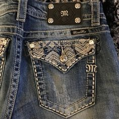 Miss me jeans! Blue jean miss me jeans! Worn 2-3 times, in perfect condition Miss Me Jeans Boot Cut
