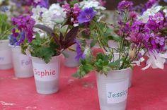 Flower arranging with pre-schoolers