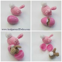 Easter Egg Bunnies - free pattern, Photo and Videotutorial