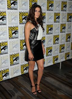 MARIE AVGEROPOULOS at Falling Skies Press Line at Comic Con in San Diego