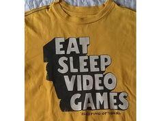 GAMERS GAPKIDS - T-Shirt  - EAT SLEEP VIDEO GAMES - Sleeping Optional