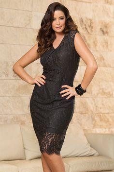 Dresses - Sara Lace Dress - EziBuy Australia