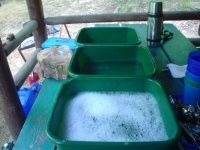 Dishwashing while camping. This site has lots of great advice y'all!