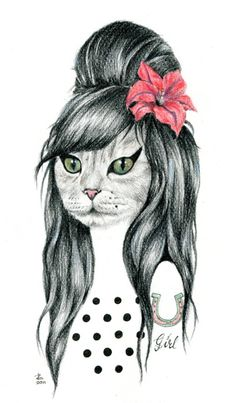 Amy gata, ilustracióm de Rebeca Losada