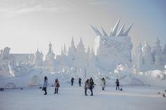 The festival started in 1985, and is held annually in the city of Harbin, located in one of China's coldest regions. | This Entire Place Is Made Out Of Ice And It Will Blow Your Mind