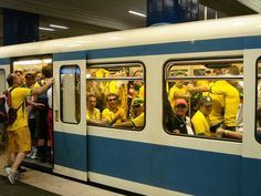 Your subway car gets crowded. | 13 Worst Things That Can Happen While You're Reading