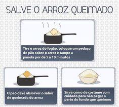 Muito interessante essa #dica para salvar o #arroz queimado, muito interessante essa dica de #cozinha.