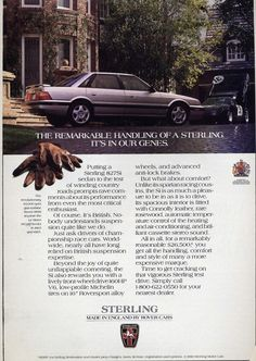 1987 Sterling 827 Si Vintage Advertisements, Vintage Ads, British Car, Weird And Wonderful, Brochures, Jaguar, Wonders Of The World, Motors, Super Cars