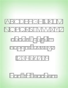 Box/ Block Font Set This amazing collection of 8 box-fonts will ...