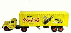 NM Hartoy Diecast Ford F-7 Tractor Trailer Coca Cola Semi Truck