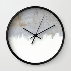 Buy Painting on Raw Concrete Wall Clock by cafelab. Worldwide shipping available at Society6.com. Just one of millions of high quality products available.