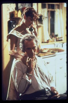 Still of Clint Eastwood and Meryl Streep in The Bridges of Madison County, 1995, Dir. Clint Eastwood.