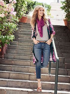 Basic scarves can give your outfit a ton of personality! Come get yours @  |  www.popupclothingdeals.com