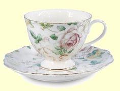 Antique Rose Porcelain Tea Cup Teacup