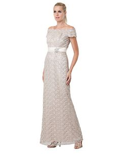 Brands | Formal/Evening | Lace Off The Shoulder Gown | Lord and Taylor