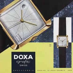 Someone snagged a solid gold 1957 Doxa Grafic on eBay for a bargain! Theses Models were originators of Bauhaus inspired modernism for watch design that predates the very similar dials of the asymmetric prototype watches designed by Gilbert Albert for Patek Philippe in the early sixties. Here's an original ad for the Grafic. . . . . #doxagrafic #doxa #patekphilippe #gilbertalbert #Bauhaus #modernism #minimalism #Doxa #doxagrafic #vintage #1957 #fifties #cool #madmen #watches #watchporn…