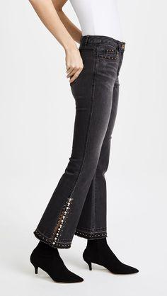 SJYP Detailed Flare Jeans | SHOPBOP