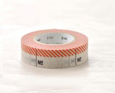 Japanese Washi Masking Tape Numbers Red (15m Long, 50 percent more) for labeling, scrapbooking, packaging