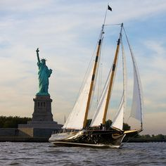 Experience the freedom of the harbor waters aboard the Schooner America 2.0 with one of a kind views of the Statue of Liberty!