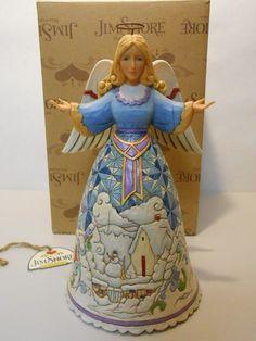 "Jim Shore Christmas Angel with Winter Scene ""Winter's Wonders"" New in Box | eBay"