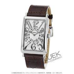 40f528b918 フランクミュラー ロングアイランド レリーフ クロコレザー 腕時計 メンズ FRANCK MULLER 1002 QZ REL
