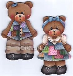 Image result for Patchwork Teddy Bear Pattern