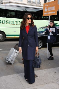 Salma Hayek has always been one stylish star but there was a clear change in the actress's way of dressing this year. Her looks were more interesting; her makeup more adventurous; and her impact definitely bigger with the yellow embroidered sweater above making everyone on the Internet freak out.