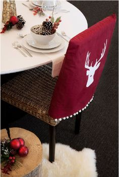 christmas chair back covers ireland ergonomic seat cushion 40 best images decorated cover rust oleum chalked paint
