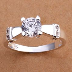 925k Sterling silver cz ring size 7 New Jewelry Rings