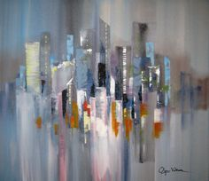 Modern Houses, Contemporary Interior, Paintings, Abstract, City, Classic, Water, Artwork, Painted Canvas