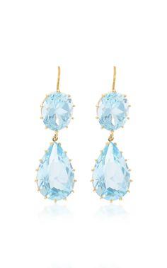 Antique Aquamarine Earrings by RENEE LEWIS for Preorder on Moda Operandi