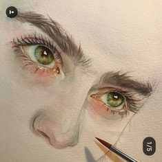This really looks like Lily Collins? Watercolor Artwork, Watercolor Portraits, Watercolor Illustration, Illusion Kunst, Guache, Eye Art, Art Plastique, Anime Comics, Art Sketchbook