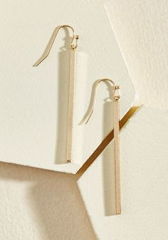 Key to Simplicity Earrings in Gold