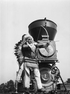 Chief Two Guns White Calf on the St. Paul and Pacific R.R. #1
