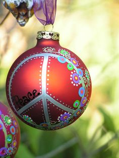 Peace Whimsical Hand Painted Ornament by ToNYaBeSToRDeSiGNS, $16.95