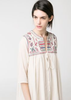 Beaded embroidered dress