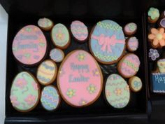 Our easter range of cookie gifts make a delightful and delicious bespoke happy easter box for the evans family easter cookie gifts negle Images