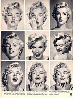 Marilyn Monroe, beautiful set of expressions