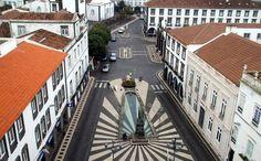 Ernesto Castanha: Fotos da Ilha de São Miguel - Açores , Praça do Município de Ponta Delgada
