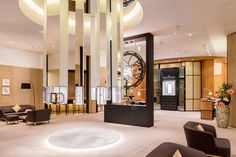 Inspired by the atmosphere and style of its boutiques, the Jaeger-LeCoultre booth was designed as a meeting point for collectors, guests, an... Photo: Courtesy of Jaeger-LeCoultre