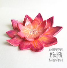 Lotus Flower shaped Ceramic Ring Dish/tea bag by meandherdesign