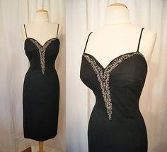 Designer 1950's Lilli Diamond black cashmere wool by wearitagain, $298.00