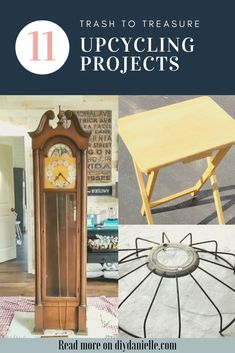 11 upcycling projects that turn trash into treasure. These DIY projects are the perfect way to decorate your home and keep trash out of the landfill. Furniture Makeover, Diy Furniture, Primitive Furniture, Repurposed Furniture, Furniture Projects, Potting Bench With Sink, Upcycling Projects, Diy Projects, Recycling Ideas