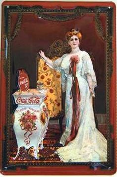 Coca Cola Victorian ad on tin