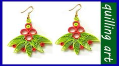 Paper quilling- earring made easy