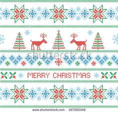 Merry christmas. Seamless nordic pattern. Vector illustration.